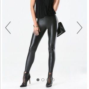 Bebe Pants Jumpsuits Wet Look Shiny Black Leggings Size Small Poshmark